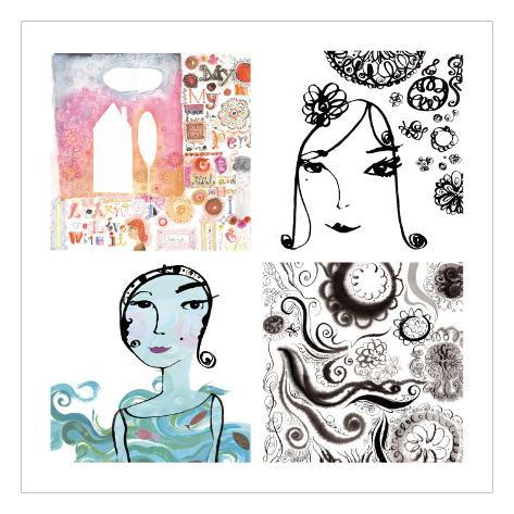 Fashionista Four Patch Wall Decal