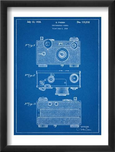 Fassin Photographic Camera Patent Framed Art Print