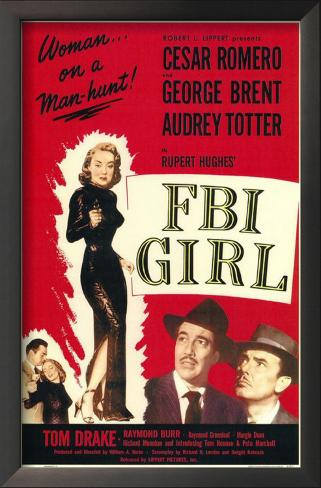 FBI Girl Impressão artística emoldurada