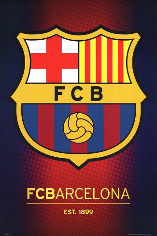FC Barcelona Club Crest Pôster