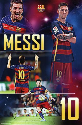 FC Barcelona- Lionel Messi 2016 Pôster