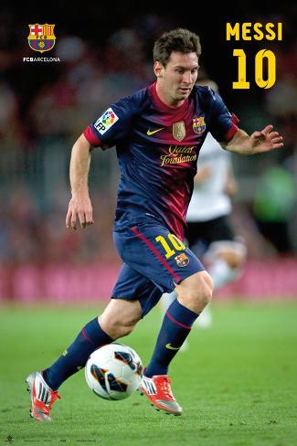FC Barcelona - Lionel Messi Action Poster Poster