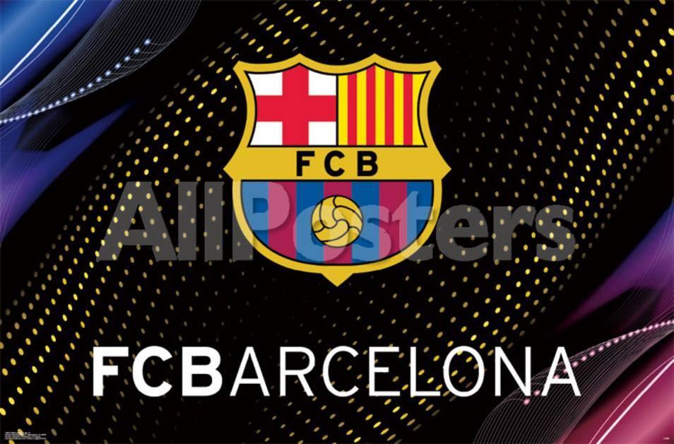 オールポスターズの fc barcelona logo 14 高品質プリント