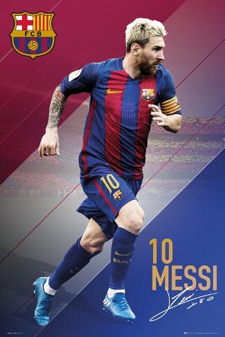 FC Barcelona- Messi 16/17 Póster