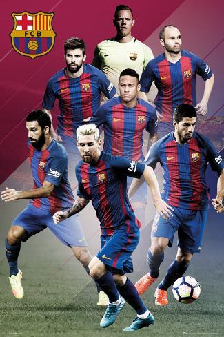 FC Barcelona- Players 16/17 Póster