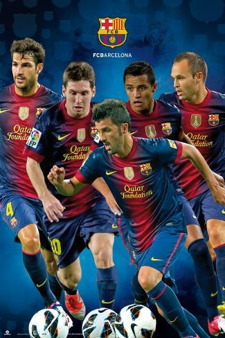 FC Barcelona-Players 2012-2013 Poster