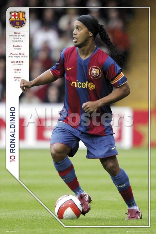 Fc Barcelona Ronaldinho Prints Allposters Com