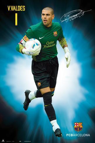 Fc Barcelona - Victor Valdes Capitan 3 (93) 2011/2012 Poster