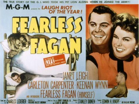 Fearless Fagan, Carleton Carpenter, Janet Leigh, Keenan Wynn, 1952 Photo