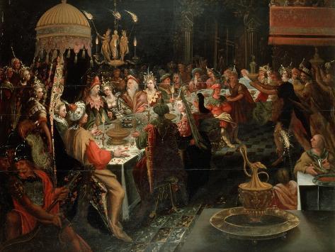Feast of Belshazzar, 1600-10 Lámina giclée