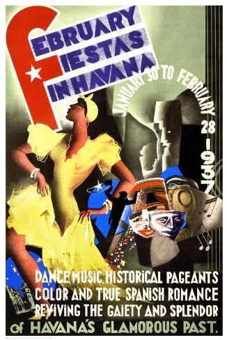 February Fiestas in Havana, 1937 Art Print