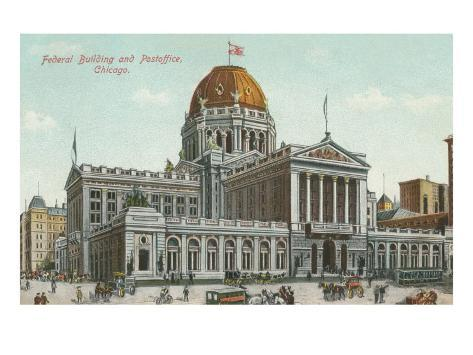 Federal Building and Post Office, Chicago, Illinois Art Print