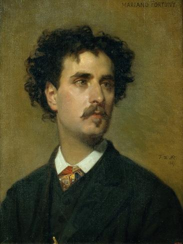 Portrait of Marià Fortuny Lámina giclée