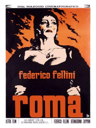 Federico Fellini Roma Giclee Print