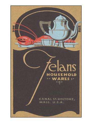Felan's Household Wares, Art Deco Tea Set, Lobster Taidevedos