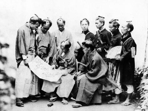 Samurai, C.1868 Photographic Print