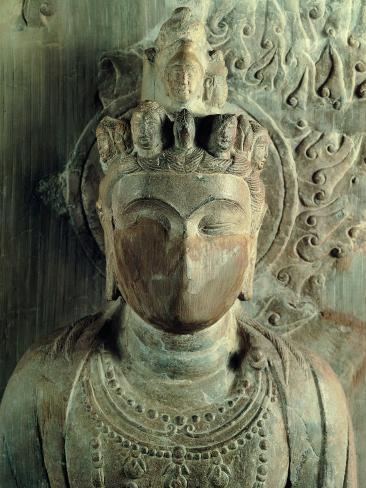 Statue of Bodhisattva Standing: Avalokitesvara Samantamukha Photographic Print