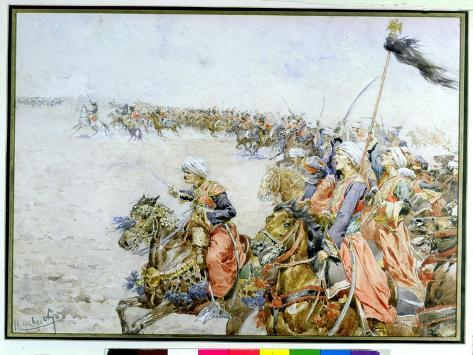 Charge of the Mamelukes at the Battle of Austerlitz, 2nd December 1805 Giclee Print