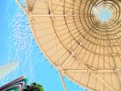 Interior of the White Towers in the Avenue of Europe, Expo 92, Seville, Spain Photographic Print