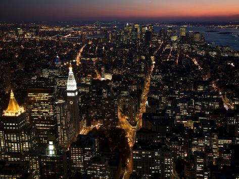 New York City at Night Photographic Print