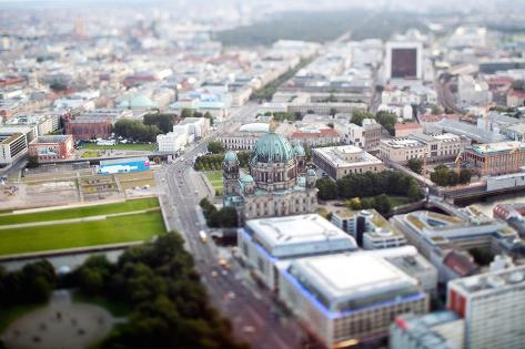 Urban City Scene in Berlin, Germany Valokuvavedos