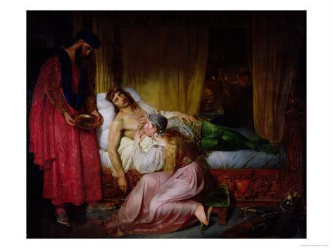 The Devotion of Princess Sybille, 1832 Lámina giclée