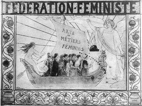 Poster Advertising the Feminist Federation, Printed by Ceramine, Paris, 1902 (Litho) Giclee Print