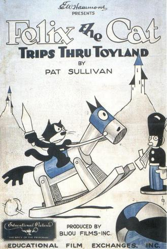 Felix the Cat Trips Thru Toyland Masterprint