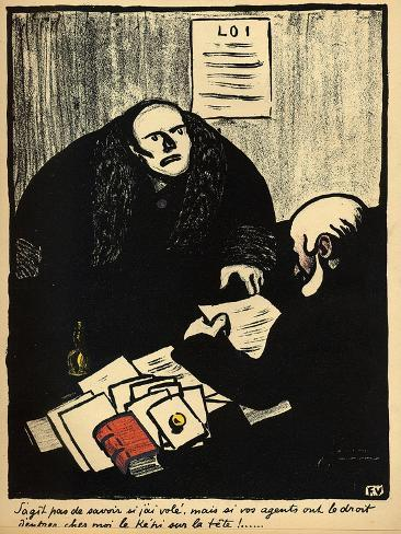 A Guilty Suspect Tries to Raise a Question of Police Procedure Giclee Print