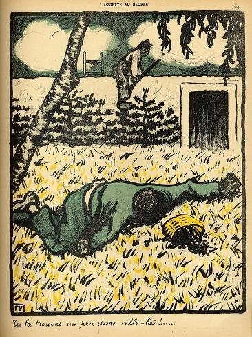 A Peasant Shoots a Tramp Caught Stealing Plums from His Tree Giclee Print