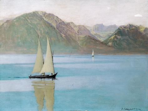 Boat on Lake Geneva, 1892 Giclee Print