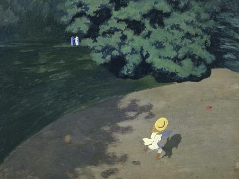 Child Playing with the Ball (Corner of the Park Giclee Print