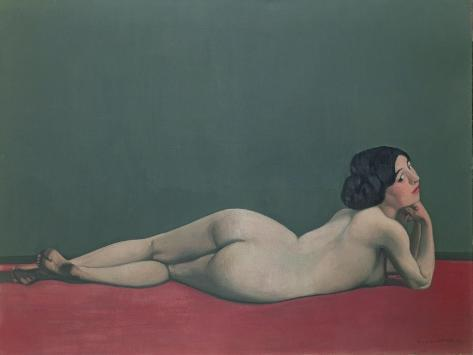 Nude Stretched Out on a Piece of Cloth, 1909 Giclee Print
