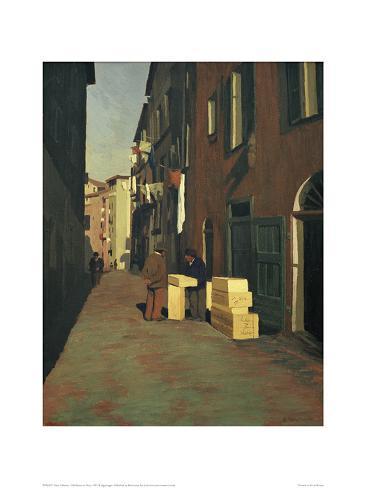 Old Street in Nice Giclee Print