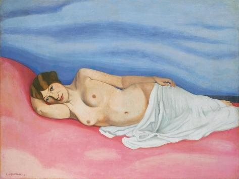 Reclining Female Nude, 1913 Lámina giclée