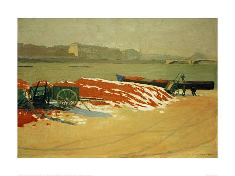 オールポスターズの フェリックス・ヴァロットン「Seine Riverbank with a Pile of Red Sand」ジクレープリントMenu IconSearch IconCart IconHelp Icon
