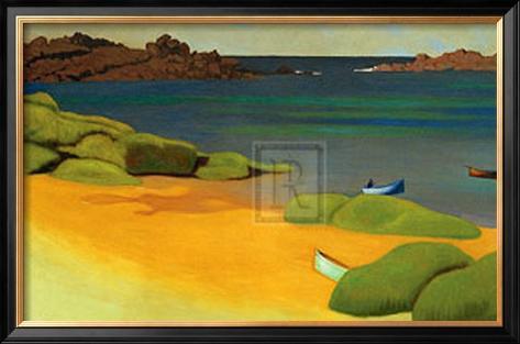 The Bay of Tregastel Framed Art Print