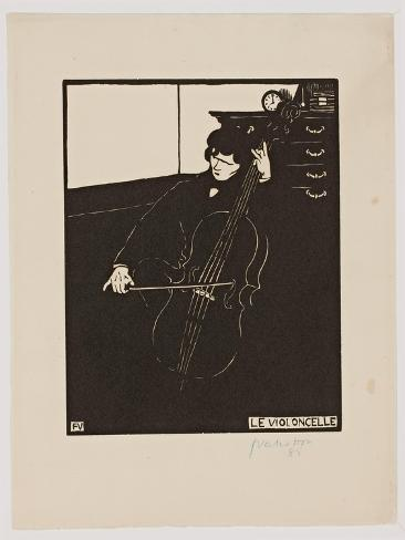 The 'Cello, from the Series 'Musical Instruments', 1896-97 Giclee Print