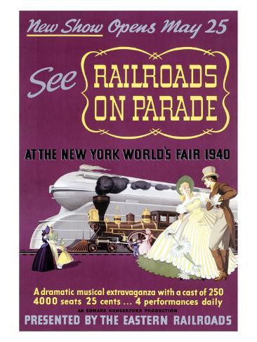 Railroads on Par, New York World's Fair Giclee Print