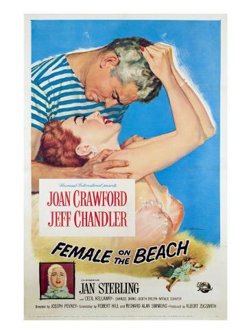 Female on the Beach, Jeff Chandler, Joan Crawford, Jan Sterling, 1955 Photo