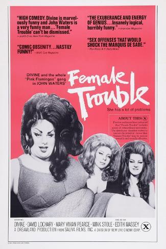 Female Trouble, 1974 Art Print