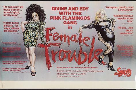 Female Trouble, Divine, Edith Massey, 1974 Art Print