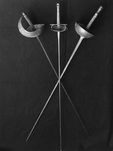 Fencing Weapons: Epee, Foil, Sabre Photographic Print