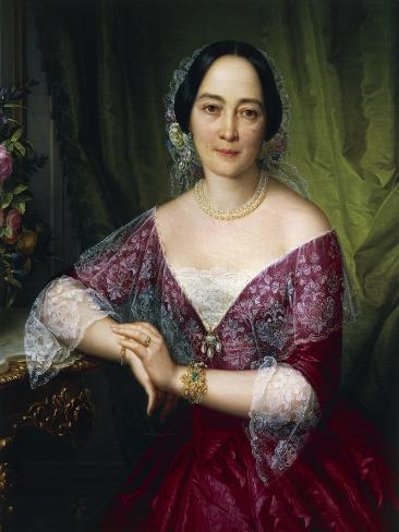 Portrait of Anne Opulich, 1856, Detail Giclee Print