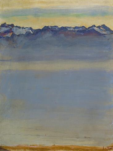 Lake Geneva with Savoyer Alps, 1907 Giclee Print