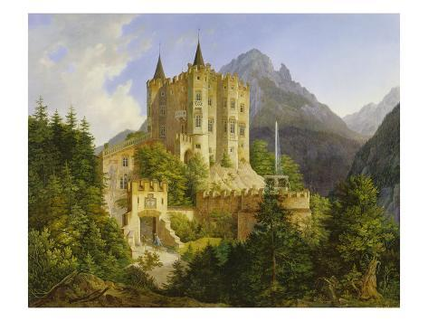 Hohenschwangau Castle, 1836 Stretched Canvas Print