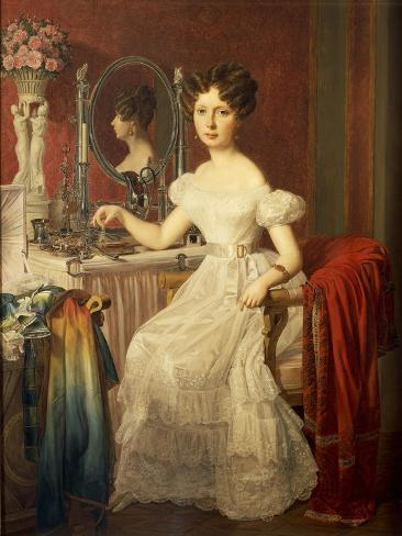 Portrait of Elise Hofer at Her Toilette, 1827 Giclee Print