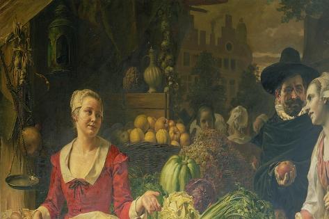 The Vegetable Market Giclee Print