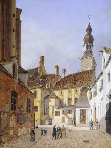 The Town Hall in St Peter Square in Munich in 1835 Giclee Print
