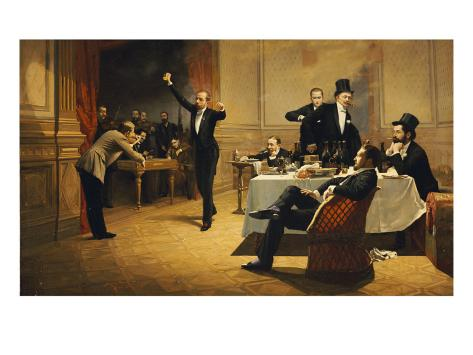 The Dinner Party, 1837 Giclee Print